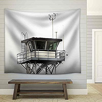 Delightful Piece, Coast Guard Tower Overlooking The Pacific Ocean Fabric Wall, Made With Top Quality
