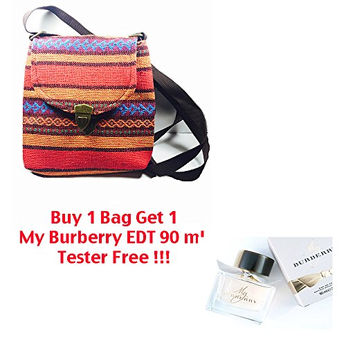 Handmade traditional bag mix color from asia with free gift