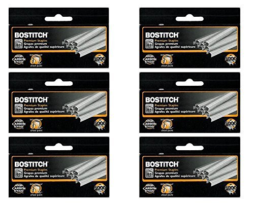 "Value Pack of 6 Boxes Stanley Bostitch B8 Powercrown Premium 1/4"" Staples (Stcrp21151/4) from Bostitch Office"