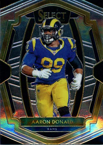(2018 Select Football #111 Aaron Donald Los Angeles Rams Premier Level Official NFL Trading Card From)