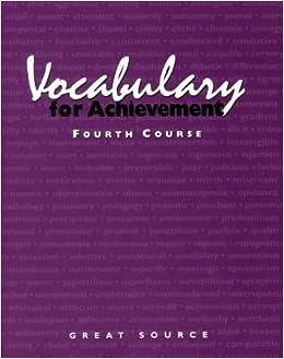 Como Descargar Libros Para Ebook Vocabulary For Achievement, Fourth Course Como Bajar PDF Gratis