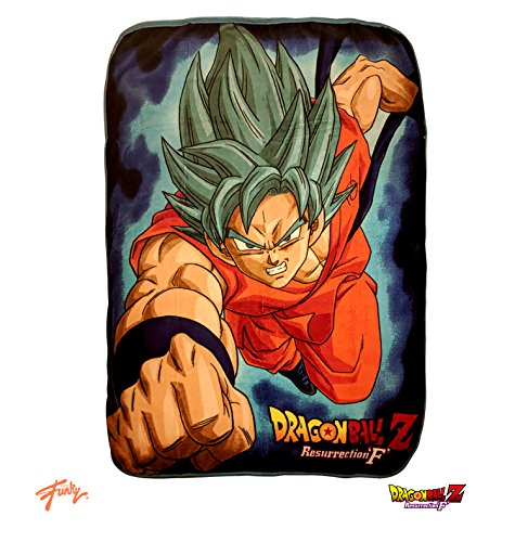 ragon Ball Z Official Super Saiyan Blue God Goku Premium Warm Fleece Throw Blanket ()