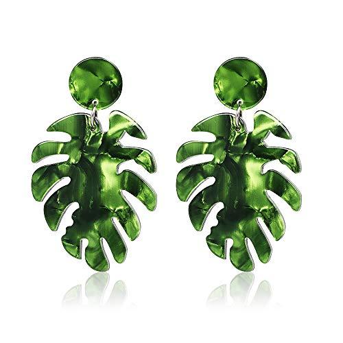 Acrylic Earrings for Women Drop Dangle Leaf Earrings Resin Minimalist Bohemian Statement Jewelry (acrylic earrings Green)