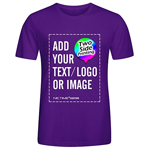 NICTIME Custom Tshirts Design Your Own For Men Front And Back Print -