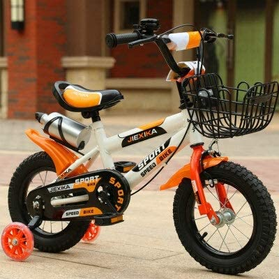 JIANPING Bicicleta For Niños, Bicicleta De Niña Princesa De 3-8 ...