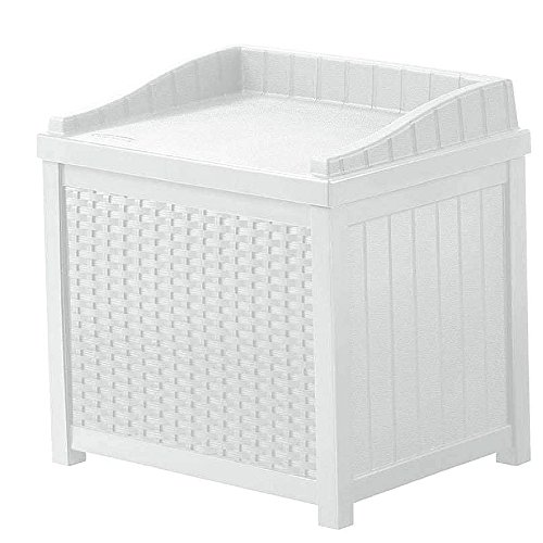 NAKSHOP Outdoor Storage Containers For Deck With Lids Multifunctional Patio Storage Trunk Modern Box White Shed Garden Seat Furniture Yard Chest Poolside Cushion Storing Bistro Backyard And eBook By by NAKSHOP