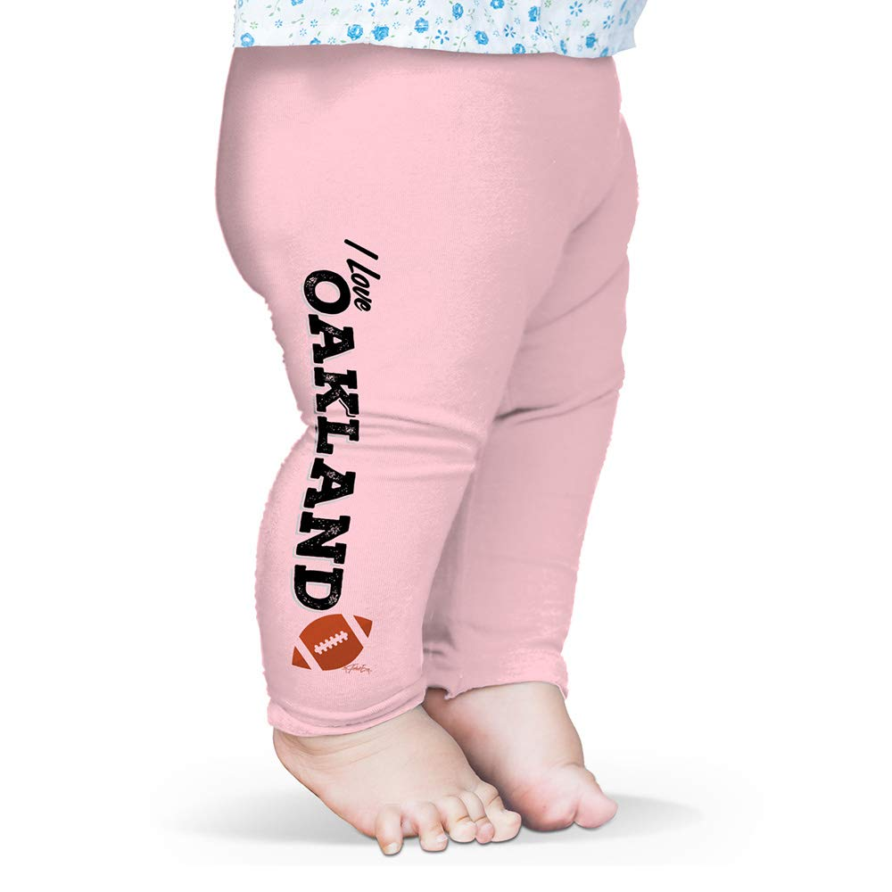 Twisted Envy Baby Leggings I Love Oakland American Football Pink 0-3 Months by TWISTED ENVY