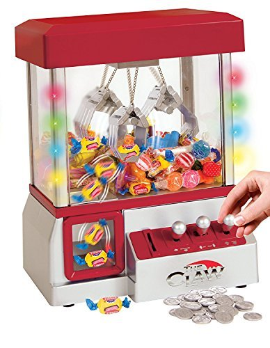 TSF TOYS Electronic Claw Toy Grabber Machine with LED Lights and - Blue Claw Machine