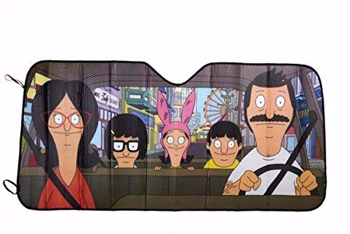 Bob's Burgers Car Windshield Accordian Sunshade