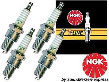 NGK V-LINE 10 BPR6EY 3577 Bujías de Encendido, 4 piezas: Amazon.es: Coche y moto