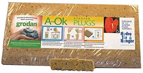 Starter Plugs Stonewool (Xtreme Gardening RWAO3640 1.5
