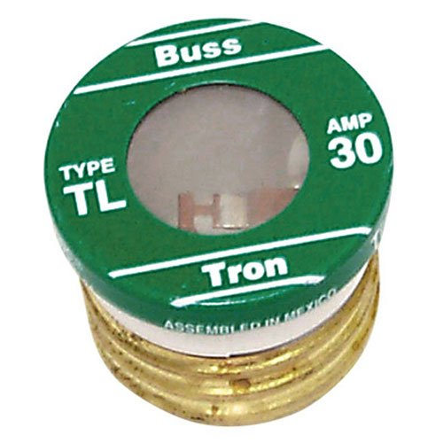 Bussmann TL-30PK4 30 Amp Time Delay, Loaded Link Edison Base Plug Fuse, 125V UL Listed, 4-Pack