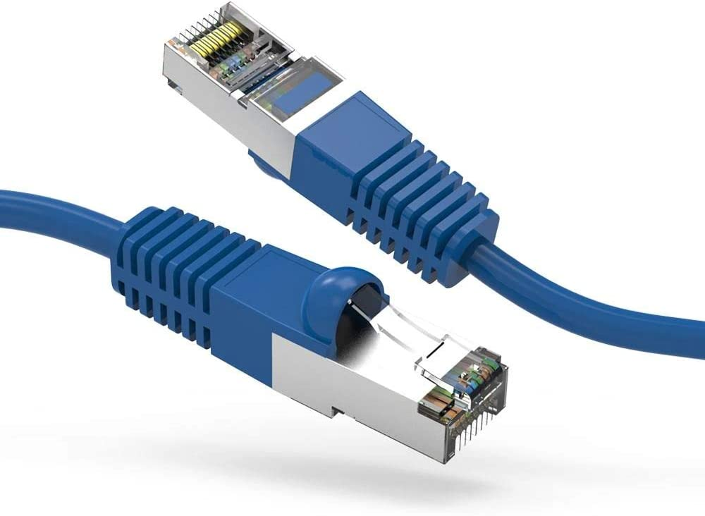 Twisted Copper Network LAN Cable FireFold Cat6 Ethernet Shielded Patch Cable Internet Cable 10-Gigabit Data Transmission Long Ethernet SSTP Cable High Speed Ethernet Cable