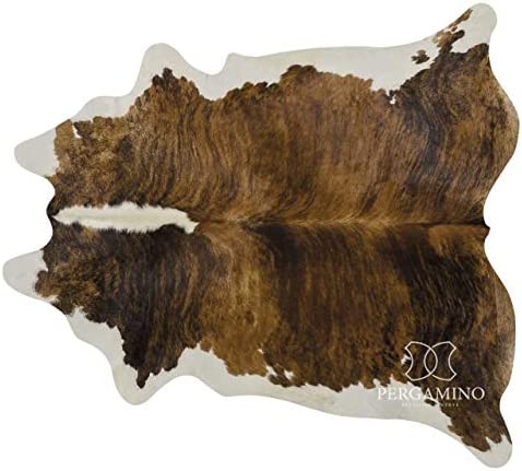 Brindle White Belly Brazilian Cowhide Area Rug