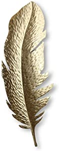 Creative Gold Feather Metal Wall Decor for Nature Home Art Decoration & Kitchen Gifts - for Study/Living Room/Bedroom, (70 x 16cm/85 x 30cm),C
