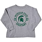 NCAA Michigan State Spartans Toddler Long Sleeve Tee, 3 Toddler, Oxford