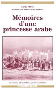 Mémoires d'une princesse arabe par Emily Ruete