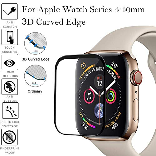 Price comparison product image Shaoshao 2Pcs Apple Watch Series 4 Full Coverage Tempered Glass Screen Protector 40mm