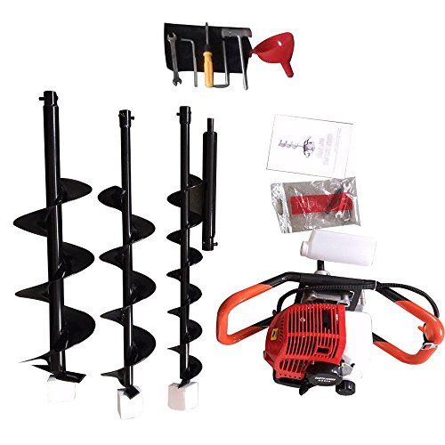 one-man-earth-auger-52cc-2-cycle-23-hp-petrol-powered-earth-auger-post-hole-borer-ground-drill-digger-3-bits
