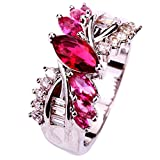 YAZILIND Jewelry Band Bridal Crystal Engagement Ring Wedding Gift For Women
