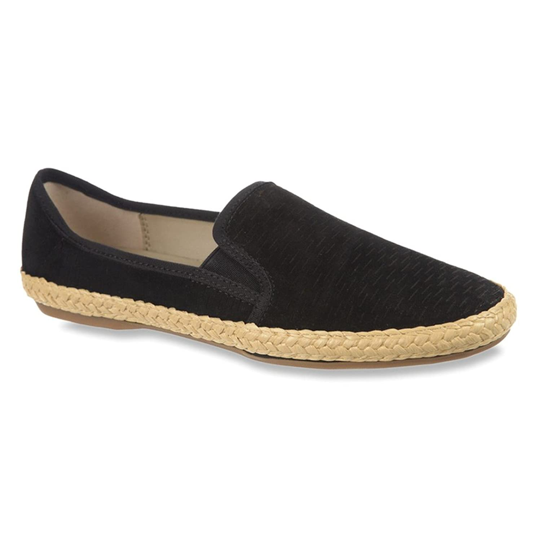 info for d41f4 5a513 chic Franco Sarto Women s Weber Black Nubuck Leather Flat 8.5 M