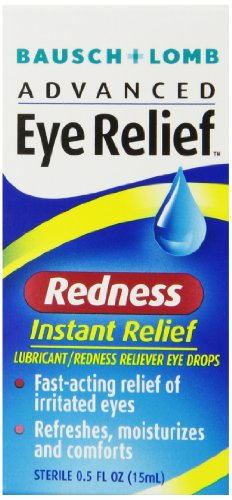 Bausch + Lomb Advanced Eye Relief Instant Redness Reliever, 0.5 Ounce (Packaging May Vary)