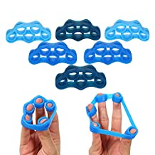 Lixada Pack of 6 Silicone Finger Stretcher Hand Resistance Band Finger Strength Trainer Strengtheners for Rock Climbing Fitness Exercise Workout