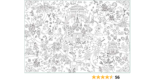 Amazon.com: Giant Coloring Poster Wall Size Coloring Book Wall Decal Huge  Coloring Page Oversize Doodle Art For Kids Children Adults Family Classroom  (The Princess's Garden): Industrial & Scientific