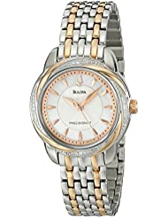 Bulova Womens 98R153 Precisionist Brightwater Two-Tone Stainless Steel Watch