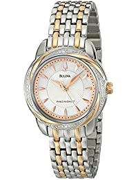 Womens 98R153 Precisionist Brightwater Two-Tone Stainless Steel Watch · Bulova