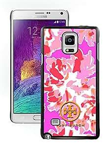 Tory Burch 21 Black Samsung Galaxy Note 4 Screen Cellphone Case Genuine and Fashion Design
