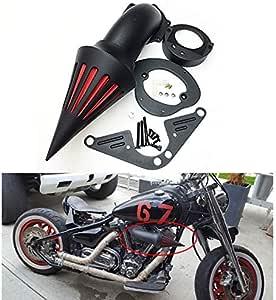 Black Triangle Spike Air Cleaner Kits For 2002-2010 Yamaha Roadstar Midnight War