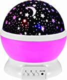 PowerTRC Night Light Lamp | Star Light Projector | Rotating Projector | 4 LED Bulbs with 8 Different Modes | Perfect Gifts for Children and Kids Bedroom (Pink)