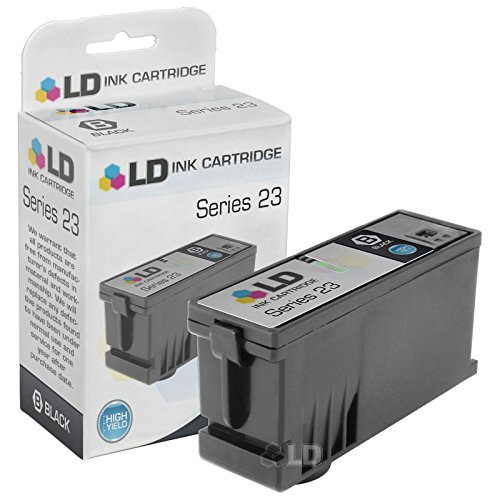 LD Compatible Set of 3 (Series 23) High Yield Black & Color Ink Cartridges for the Dell V515w Printer: 2 Black T105N, 1 Color T106N Photo #3
