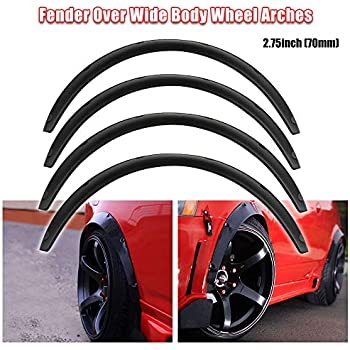 """Universal JDM Fender flaresoverwide body wheel arches ABS 2.0/"""" 50mm 4pcs"""