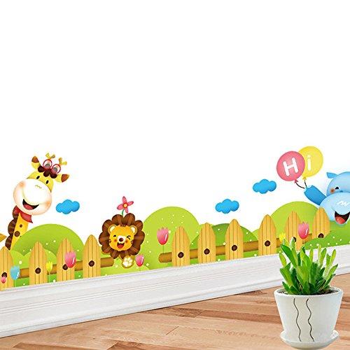 Jungle Wild Animal PVC Wall Sticker Decals for Kids Baby Bedroom Kindergarten