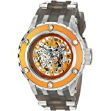 Invicta Men's Character Collection Stainless Steel Automatic-self-Wind Watch with Silicone Strap, Grey, 31 (Model: 26954