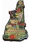 New Hampshire State Decowood Jumbo Wood Fridge Magnet 5