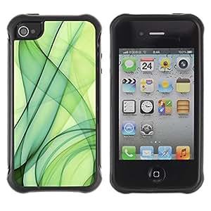 LASTONE PHONE CASE / Suave Silicona Caso Carcasa de Caucho Funda para Apple Iphone 4 / 4S / Green Smoke