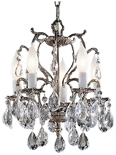- Classic Lighting 5227 MS I Barcelona, Crystal Cast Brass, Mini-Chandelier, Millennium Silver