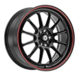 Konig TWEAKD Gloss Black Wheel with Red Stripe (18x8''/5x112mm, +45mm offset)