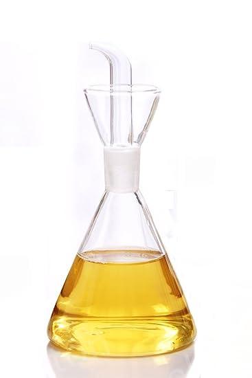 ELETON Olive Oil Dispenser Oil Bottle Glass With No Drip Bottle Spout   Oil  Pourer Dispensing