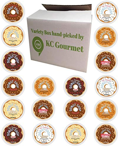 (24 Count - Variety pack of The original Donut House Coffee K Cups for All Keurig K Cup Brewers - (6 flavors, NO DECAF, 4 K cups each flavor))
