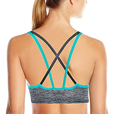 AKAMC Women's Removable Padded Sports Bras Medium Support Workout Yoga Bra 1 Pack or 5 Pack