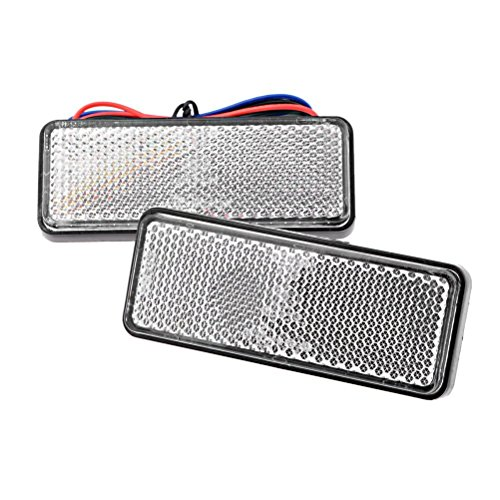 Price comparison product image DLLL Waterproof Red 24 LED Rectangle Reflectors Tail Brake Stop Marker Light Truck Trailer RV ATV Motorcycle for RV,Trailer,Truck,UTE,UTV,ATV,Motorcycle