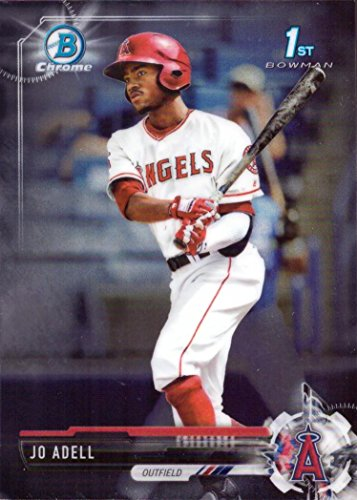 2017 Bowman Chrome Draft Picks - 2017 Bowman Draft Chrome #BDC-95 Jo Adell Pre-Rookie Baseball Card - 1st Bowman Card