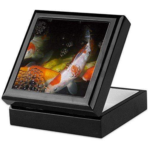 (CafePress - Japanese Koi - Keepsake Box, Finished Hardwood Jewelry Box, Velvet Lined Memento Box)