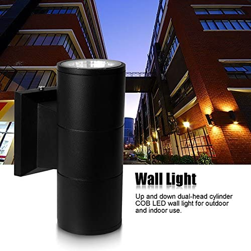 ONEVER COB 6W LED Cylinder Wall Sconce Wall Mounted Up Down Light Cool White
