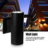 Houkiper LED Wall Lamp - 10W COB Up Down Dual-Head Cylinder IP65 Waterproof Aluminum Wall Sconces Lamp Lantern Light Fixture for Living Room Cafe Holtel Corridor Indoor Outdoor Decoration (Cool White)