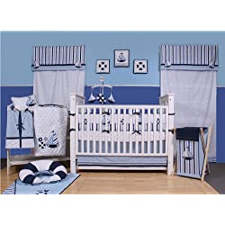 Little Sailor Nautical 9 piece Crib Set, Sail boats